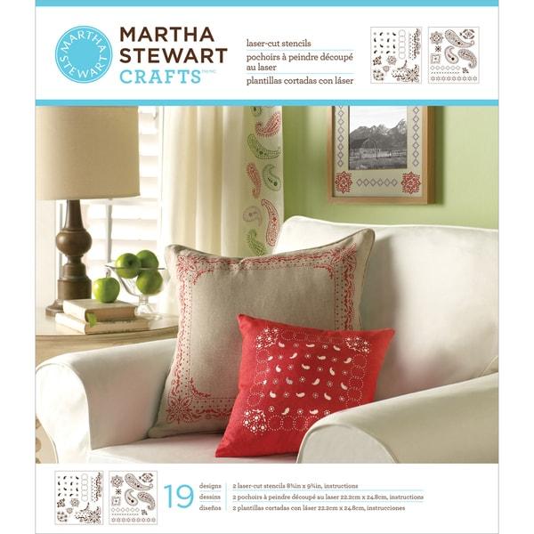 Martha Stewart Medium Stencils 2 Sheets/Pkg-Bandana Paisley 19 Designs