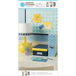 Martha Stewart Large Stencils 3 Sheets/Pkg-Geometric Pattern 12 Designs