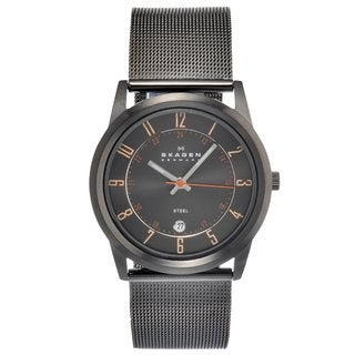 Skagen Men's Gray Stainless Steel Mesh-strap Watch