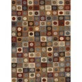 Transitional Geometric Multi Color Wool Tufted Rug F11 (2' x 3')