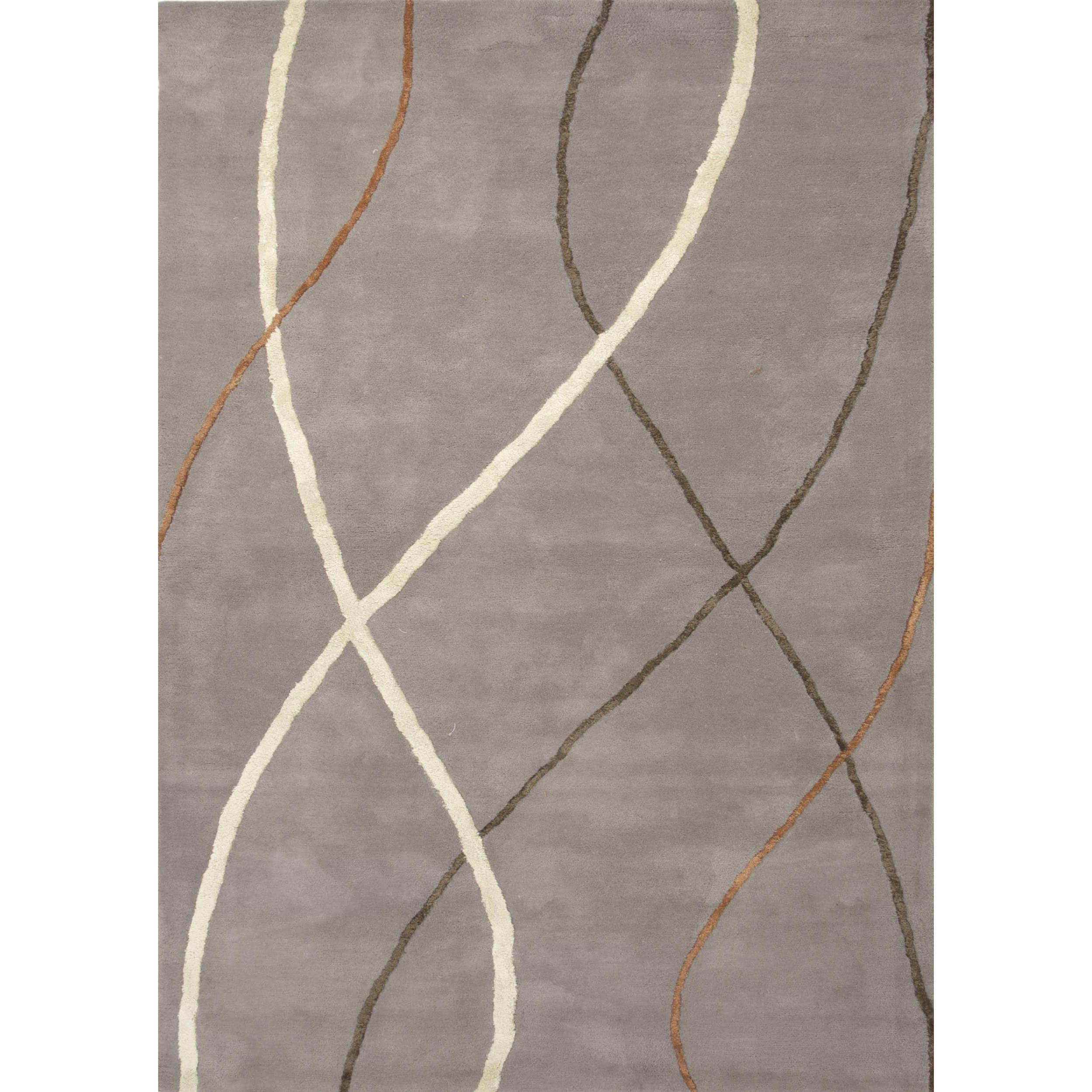 Hand Tufted, Wool & Silk 5x8   6x9 Area Rugs Buy Area