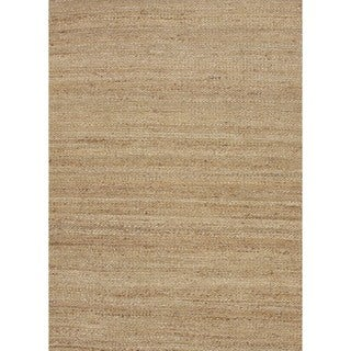 Natural Solid Hemp/ Chenille Green Woven Rug (8' x 10')