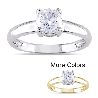 Miadora 14k Gold 1ct TDW Certified Diamond Solitaire Engagement Ring (G-H,I1-I2)