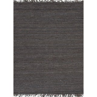 Handmade Flat Weave Solid Blue Hemp/ Jute Rug (2&#39; x 3&#39;)