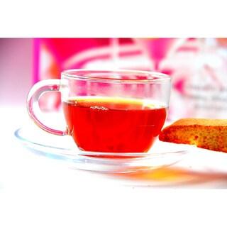 Tea Beyond Hand Crafted Glass Teacups & Saucers (Set of 4)