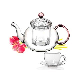 Tea Beyond Non-Dripping Glass Teapot Juliet Gift Set