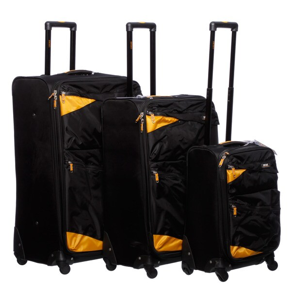 Lucas 'Pennant' 3-piece Expandable Spinner Luggage Set