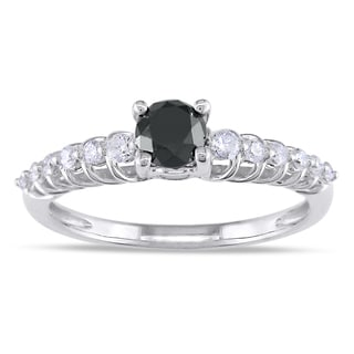 Miadora 14k Gold 3/4ct TDW Black and White Diamond Ring (G-H, I1-I2)