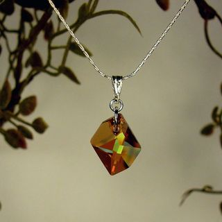 Jewelry by Dawn Sterling Silver Small Copper Cosmic Crystal Necklace