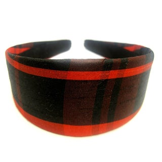 Crawford Corner Shop Red Black Plaid Headband