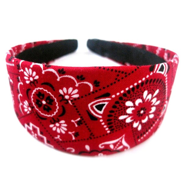 Crawford Corner Shop 2-inch Wide Red Bandana Headband