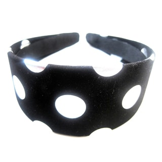Crawford Corner Shop Black Silver Dots Headband