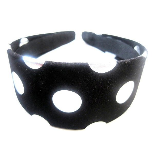 Crawford Corner Shop Black Silver Dots Headband