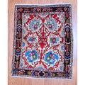 Persian Hand-knotted Tribal Bidjar Ivory/ Navy Wool Rug (3'7 x 4'7)