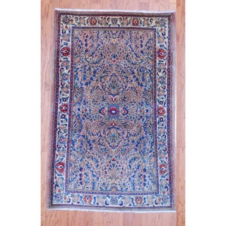 Persian Hand-knotted Tribal Sarouk Light Brown/ Ivory Wool Rug (3'3 x 5'2)