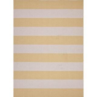 Flat Weave Mold Gold/ Yellow Wool Runner (2'6 x 8')