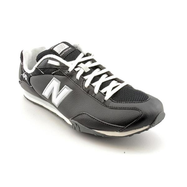 New Balance Women's 'CW442' Black Leather Athletic Shoe