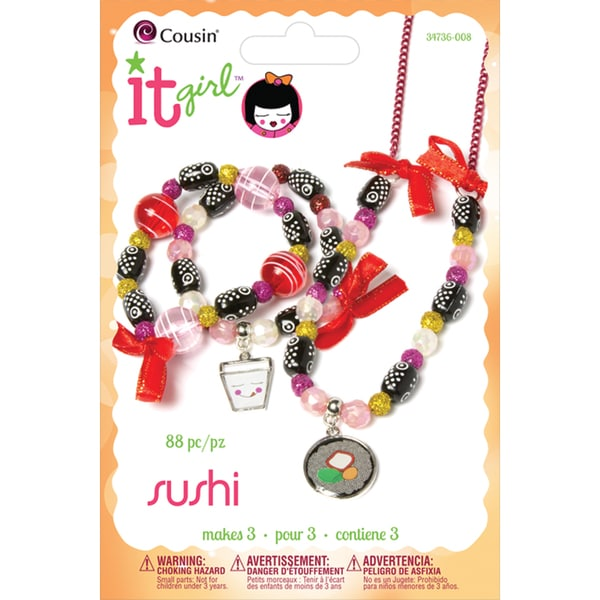 It Girl Jewelry Kits-Sushi Take-Out 88 Pieces