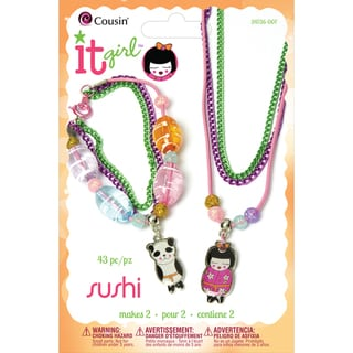It Girl Jewelry Kits-Panda/Japanese Doll 48 Pieces