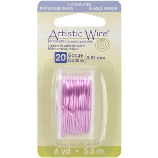 Artistic Wire Dispenser 6 Yards/Pkg-Rose 20 Gauge