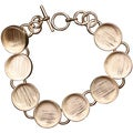 "Designer's Deep Welled Circle Link Bracelet 5/8""X4mm 1/Pkg-Copper"