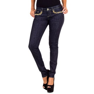 Stanzino Junior's Dark Blue Embellished Skinny Jeans