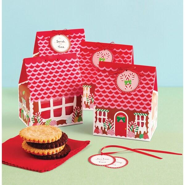 Treat Boxes 6/Pkg-Wonderland Gingerbread House