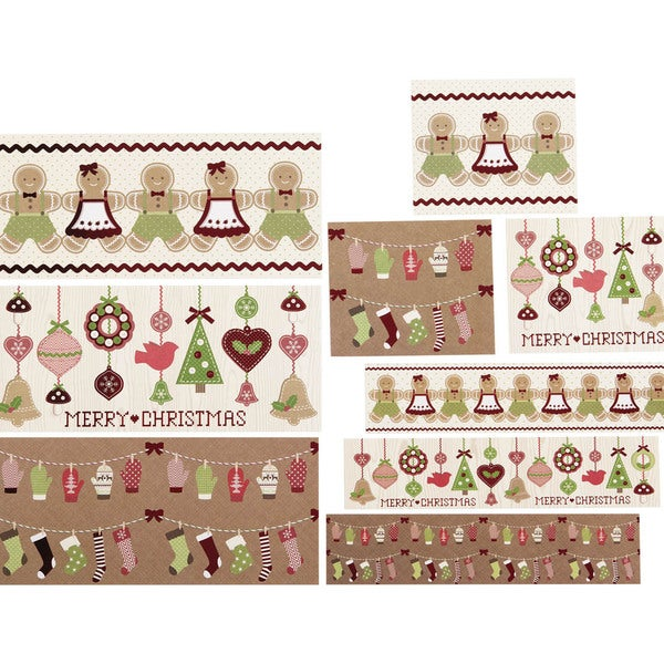 Beverage Labels 18/Pkg-Cottage Christmas