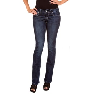 Stanzino Women's Dark Blue Denim Boot Cut Jeans