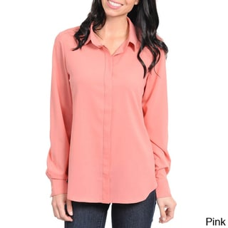 Stanzino Women's Long Sleeve Button Down Shirt