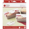 "Bakeable Trays 5-3/4""X2-1/2""X1.875"" Makes 6-Cottage Christmas"