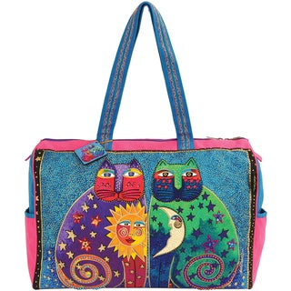 "Travel Bag W/Zipper Top 21""X8""X15""-Celestial Felines"