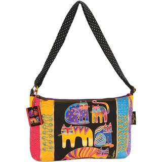 "Medium Tote W/Zipper Top 15""X1""X10""-Fantastic Feline Totem"