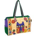 "Travel Bag W/Zipper Top 21""X8""X15""-Blossoming Feline"