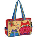 "Medium Tote W/Zipper Top 15""X4-1/2""X10""-Kindred Spirits"