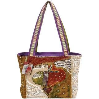 "Medium Tote W/Zipper Top 15""X3-1/2""X10""-Heart Embracing Horses"