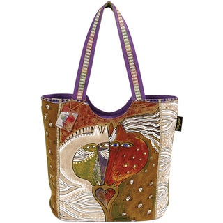 "Scoop Tote W/Zipper Top 18""X6""X15""-Heart Embracing Horses"