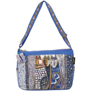 "Medium Tote W/Zipper Top 15""X4-1/2""X11-1/2""-Autumn Felines"