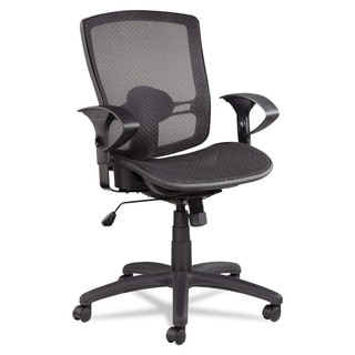 Alera Etros Series Suspension Mesh Mid-back Synchro Tilt Black Chair