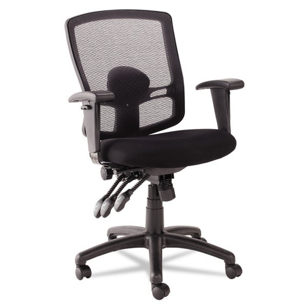 Alera Etros Series Petite Mid-back Multifunction Black Mesh Chair