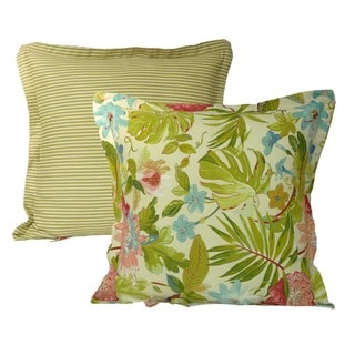 Rose Tree St Croix Euro Sham Square Floral Print Pillow