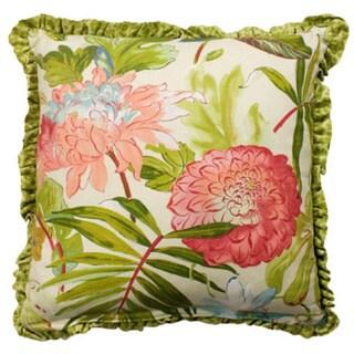 Rose Tree St Croix Decorative Floral Print 18x18-inch Pillow