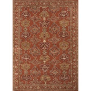Hand-tufted Traditional Floral Red Wool Rug (2' x 3')