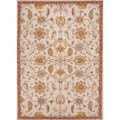 Hand-tufted Transitional Floral Beige/ Brown Wool Rug (8' x 11')