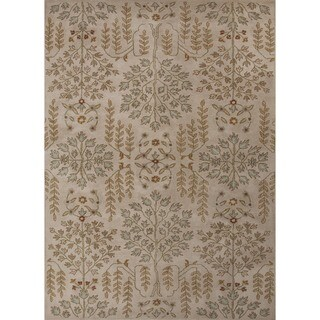 Hand-tufted Transitional Gold/ Yellow Wool Rug (9'6 x 13'6)