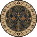 Tufted E30 Transitional Blue Wool Round Rug (8' x 8')