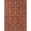 Hand-Tufted Transitional Red Wool Accent Rug (2' x 3')