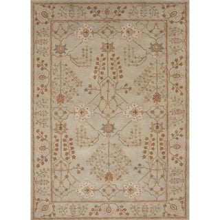 Hand-tufted Transitional Green Wool Rug (3'6 x 5'6)