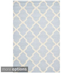 Safavieh Handmade Cambridge Moroccan Oriental Light Blue Wool Rug