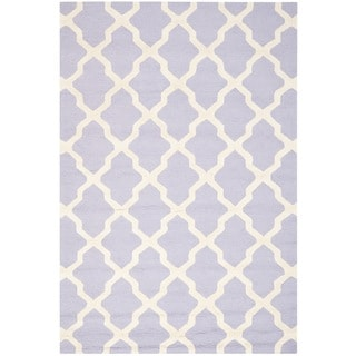 Traditional Handmade Cambridge Moroccan Lavender Wool Rug